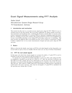 Exact Signal Measurements using FFT Analysis