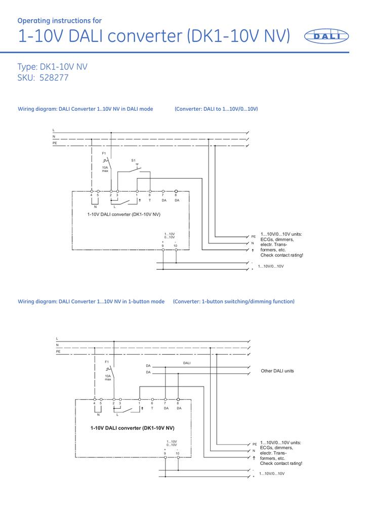 Excellent 1 10V Dali Converter Dk1 10V Nv Wiring Digital Resources Ommitdefiancerspsorg