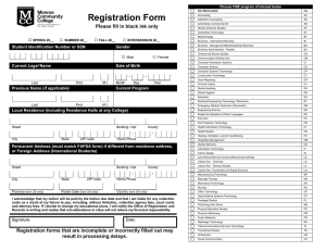 mcc registration form - Monroe Community College