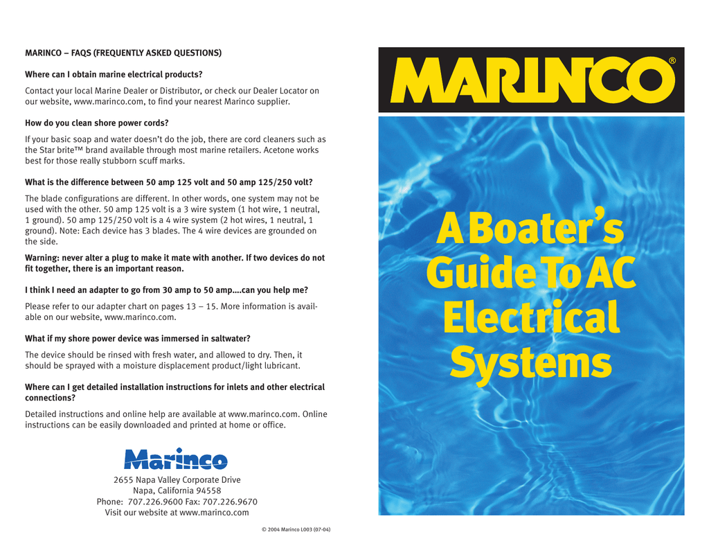 Marinco 24 Volt Wiring Diagram A Boaters Guide To Ac Electrical Systems