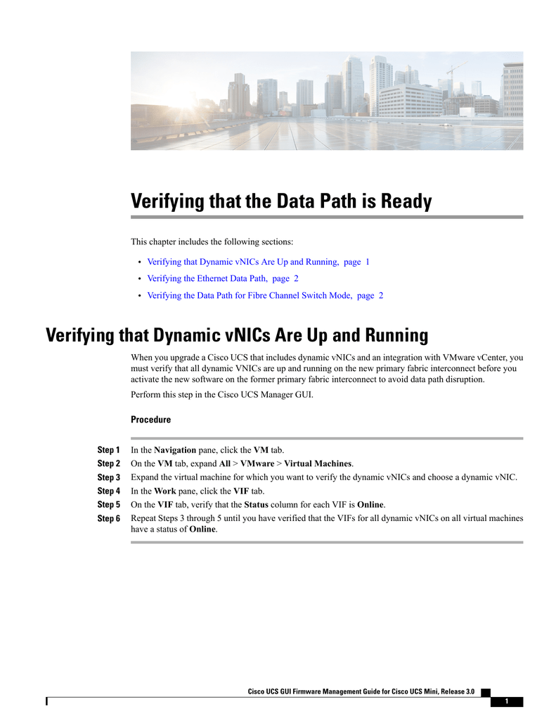 Verifying that the Data Path is Ready
