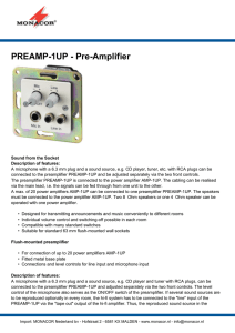 PREAMP-1UP - Pre-Amplifier