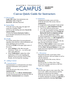 Canvas Quick Guide for Instructors
