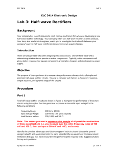 Lab 3: Half-wave Rectifiers