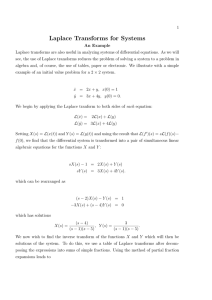 Solving Linear Systems with Laplace Transforms