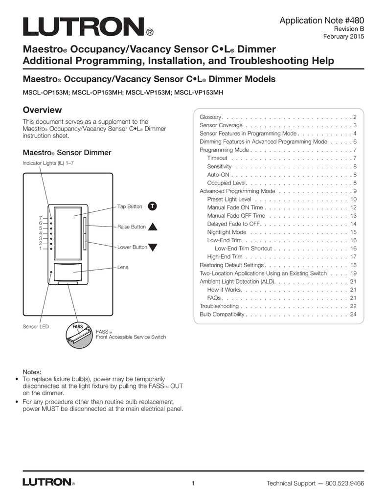048480 Maestro Occupancy/Vacancy Sensor CL Dimmer on lutron dimmer wiring, single pole light switch wiring diagram, grafik eye wiring diagram, maestro guitar wiring diagram, lutron 3-way dimmer installation, lutron toggler wiring-diagram, rocker wiring diagram, pool light transformer wiring diagram, lutron 4-way switch diagram, dual dimmer switch wiring diagram, leviton wiring diagram, lutron fan light dimmer switch, motion sensor light switch wiring diagram,
