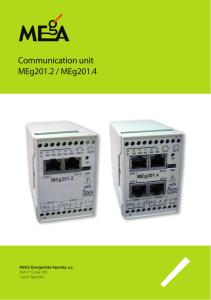 Communication unit MEg201.2 / MEg201.4