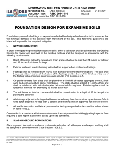 foundation design for expansive soils
