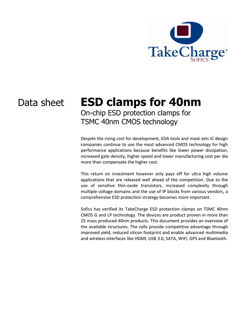 ESD clamps for 40nm