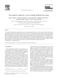 Fine particle coating by a novel rotating fluidized bed coater