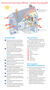 Maximize Your Home`s Energy Efficiency = Minimize Your Energy Bill