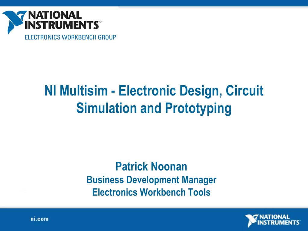 Ni Multisim Electronic Design Circuit Simulation And Electronics Simulator Free