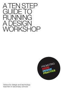 a ten step guide to running a design workshop