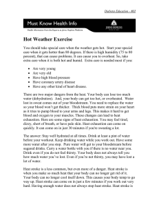 Hot Weather Exercise - Johns Hopkins Medicine