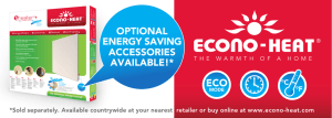 OPTIONAL ENERGY SAVING ACCESSORIES AVAILABLE!* ECO