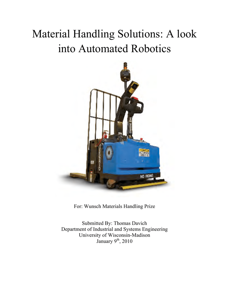 Robotic Trolley For Material Handling Pdf