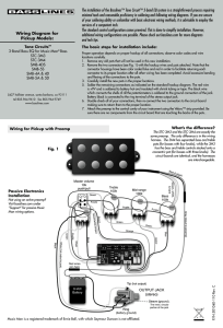 Wiring Diagram for Pickup Models: The installation