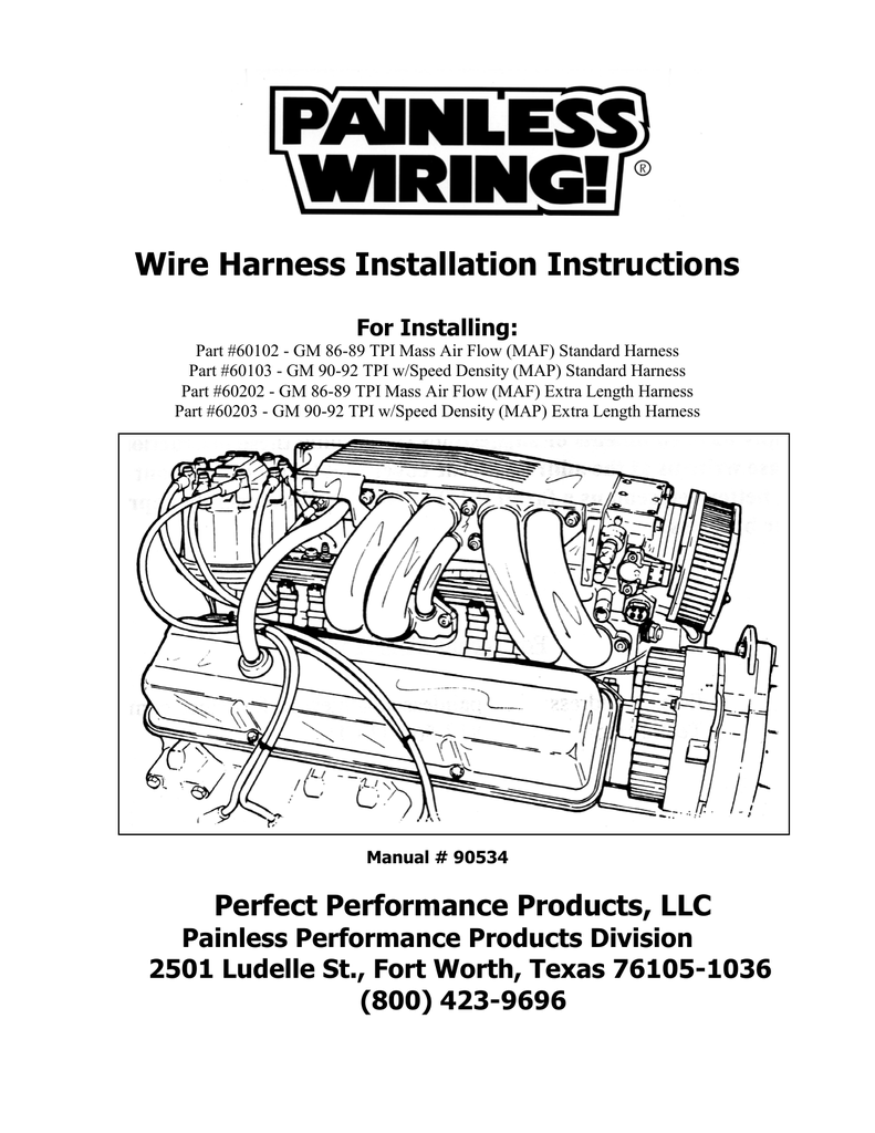 Wire Harness Installation Instructions Painless Wiring And Chassis 018094730 1 A9ccc8c971a7d33e7bc71d236c943a35