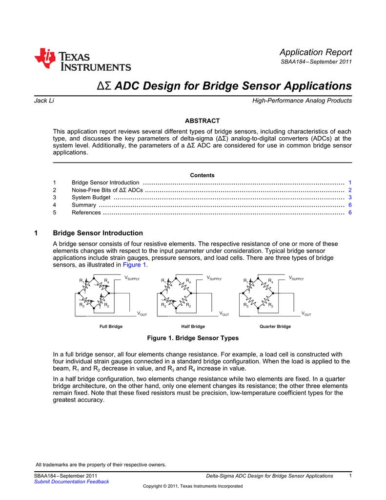 Delta-Sigma ADC Design for Bridge Sensor