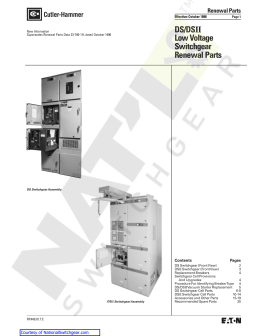Westinghouse Ds206 Amptector breaker manual