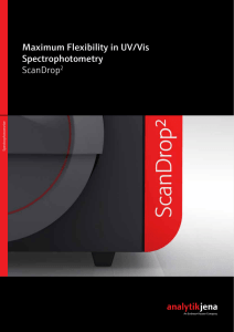 Maximum Flexibility in UV/Vis Spectrophotometry ScanDrop2