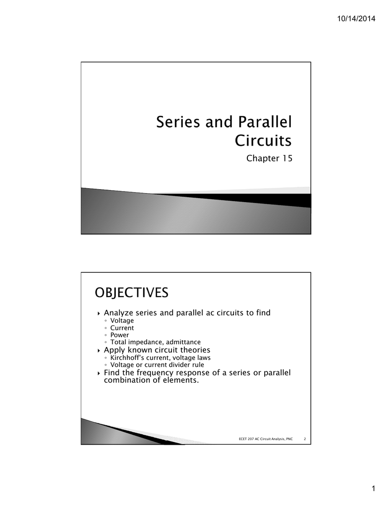 Ch 15 Series And Parallel Circuits Current