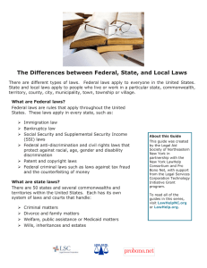 The Differences between Federal, State, and Local Laws