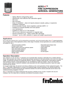 AERO-K™ FIRE SUPPRESSION AEROSOL GENERATORS