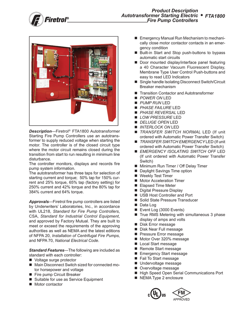 Product Description Autotransformer Starting Electric Fire Pump Motor Starter Wiring Diagram