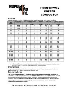 Cerro wire thhn spec sheet wiring info thhn thwn 2 cerro wire rh studylib net xhhw spec sheet thhn electrical wire size chart greentooth Image collections