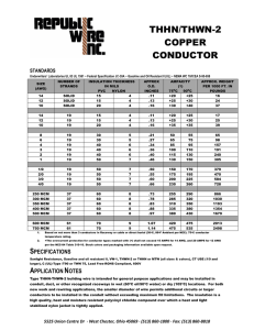 thhn/thwn-2 copper conductor