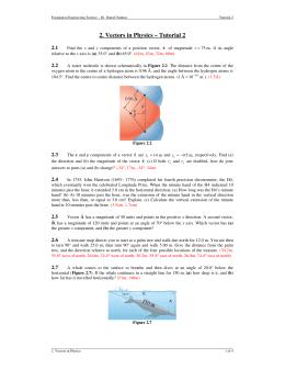 2. Vectors in Physics – Tutorial 2