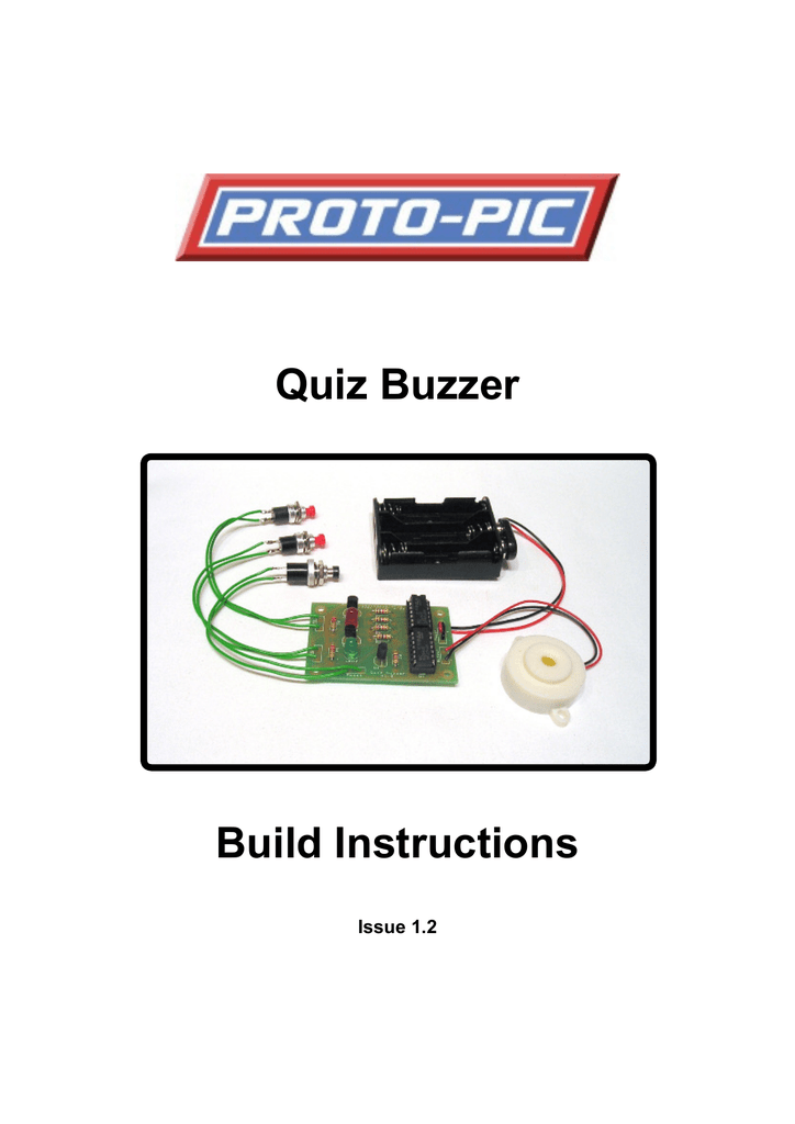 Admirable Quiz Buzzer Proto Pic Wiring Cloud Hisonuggs Outletorg