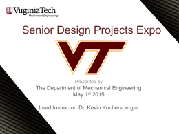 senior design projects expo department of mechanical engineering