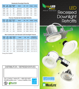 LED Recessed Downlight Retrofits