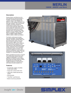 Merlin 300KW-400KW Large Portable Load Bank Sales Brochure