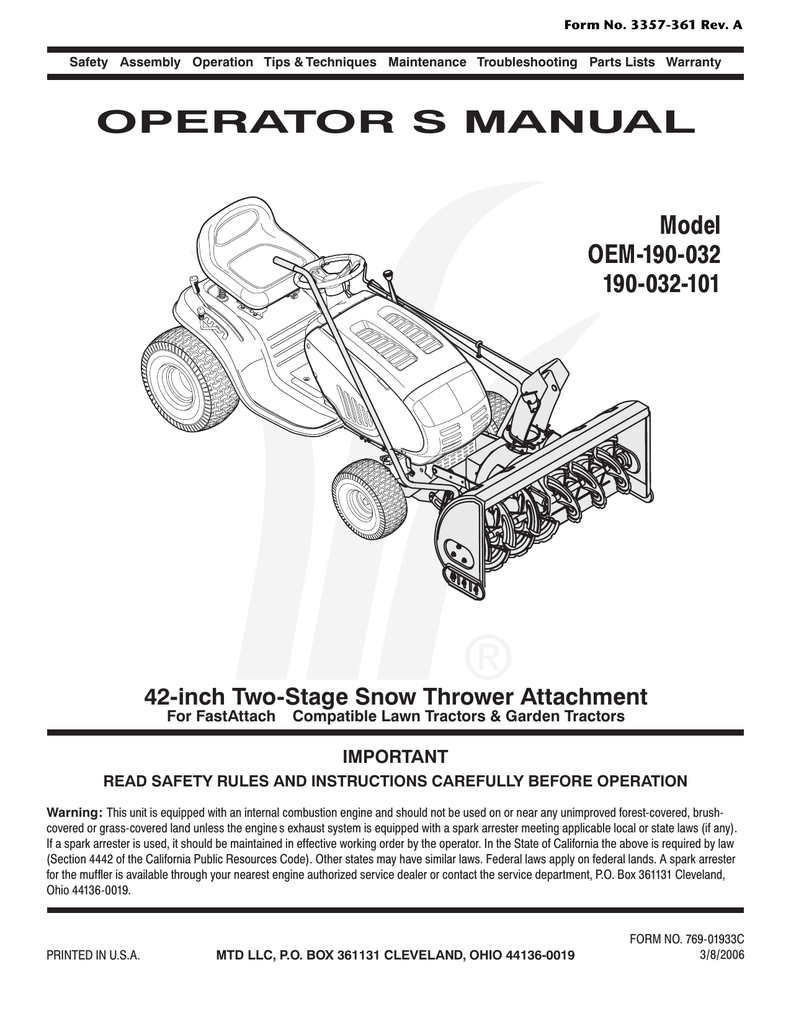Dash Panel Diagram And Parts List For Mtd Ridingmowertractorparts