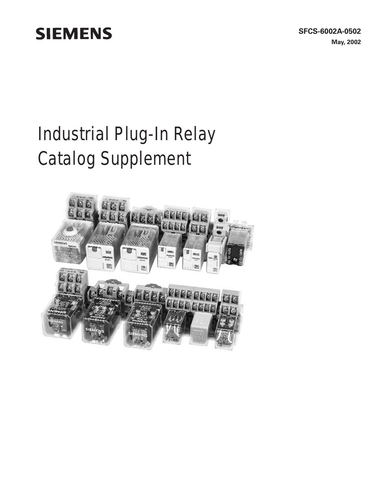 Industrial PlugIn Relay Catalog Supplement - Relay coil voltage tolerance