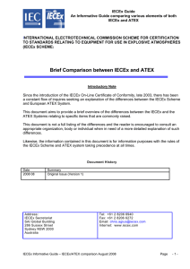 Brief Comparison between IECEx and ATEX