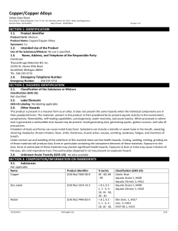 Material Safety Data Sheet Magnesium Oxide