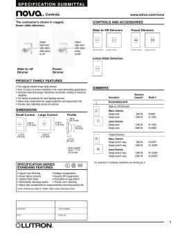 lutron nova t ntftv bl dimmer spec sheet lutron nova n 600 iv dimmer spec sheet