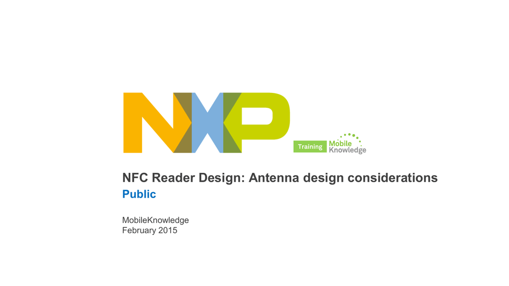 NFC Reader Design: Antenna design