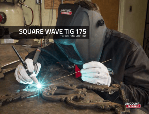 Square Wave TIG 175 Product Info