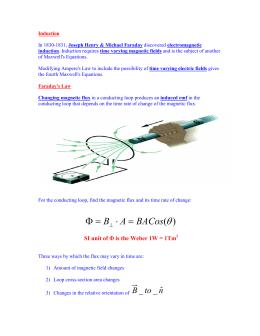 )(θ BACos AB=⋅ =Φ