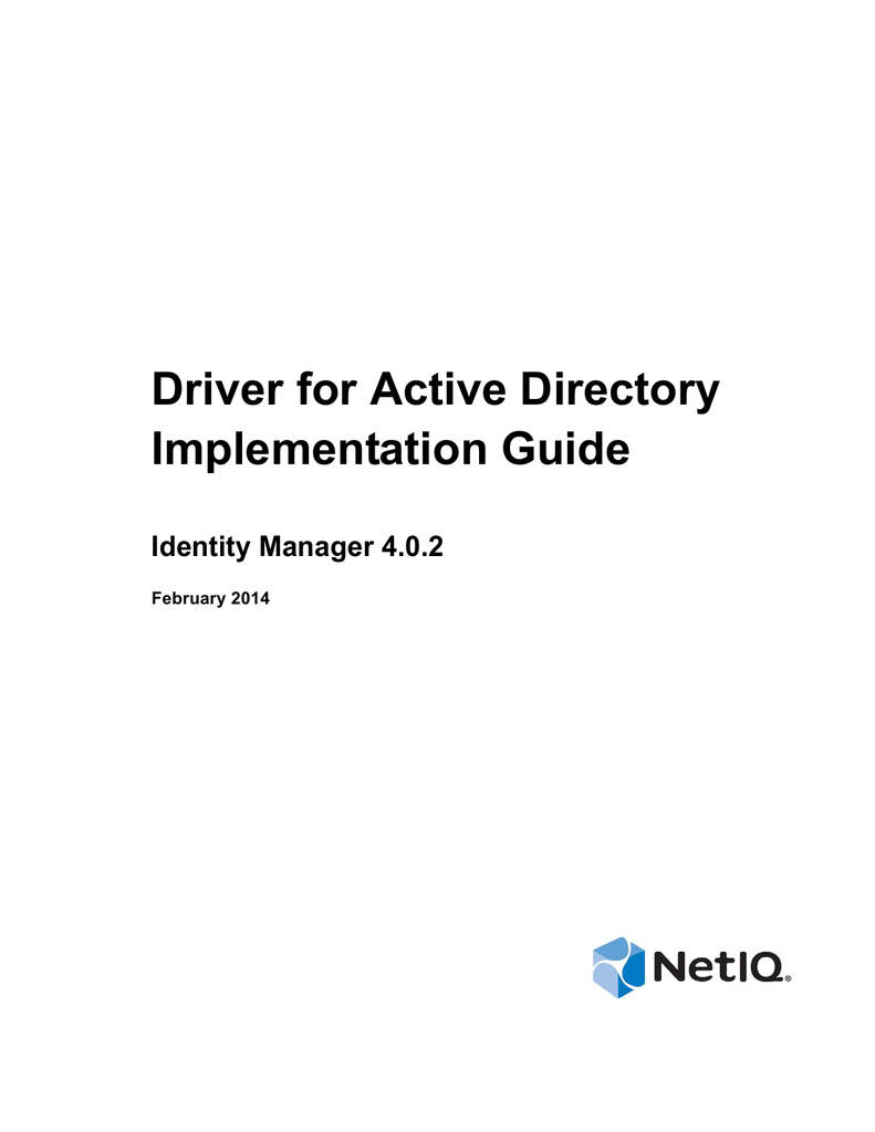 NetIQ Identity Manager 4 0 2 Driver for Active Directory