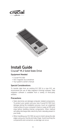 Crucial® M.2 Solid State Drive Install Guide