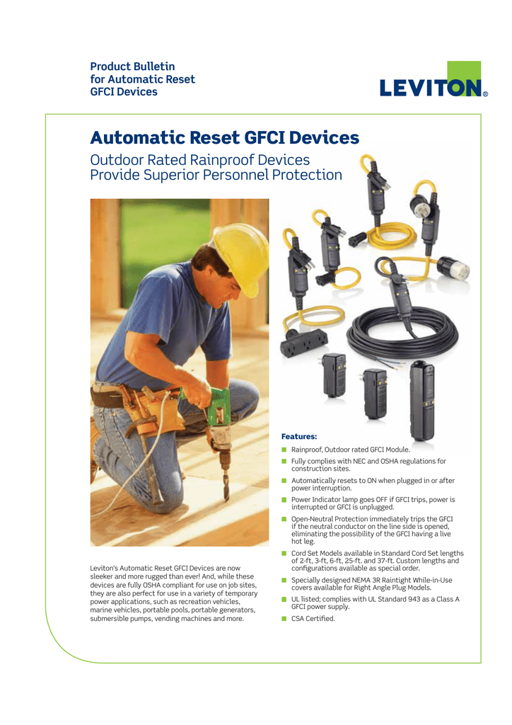 Automatic Reset GFCI Devices