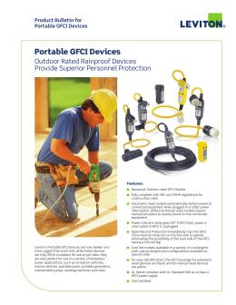 Portable GFCI Devices