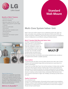 Standard Wall-Mount - LG Air Conditioning Systems