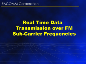 Real Time Data Transmission over FM Sub